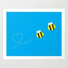 Bee in Love Art Print