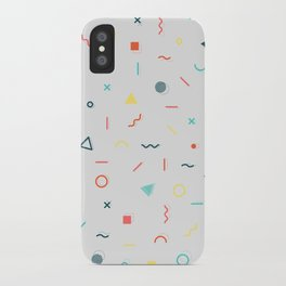 COLORFUL MEMPHIS PATTERN iPhone Case