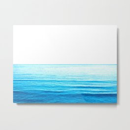Blue Ocean Illustration Metal Print