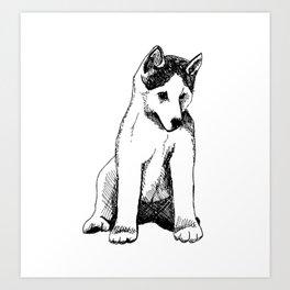 Siberian Husky Puppy Art Print