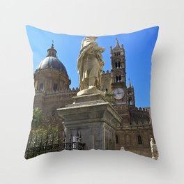 Cathedral of PALERMO Throw Pillow