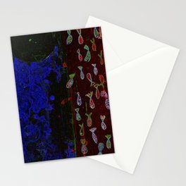 Neon fish Stationery Cards