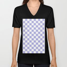 Gingham Soft Lavender Blush Checked Pattern Unisex V-Neck