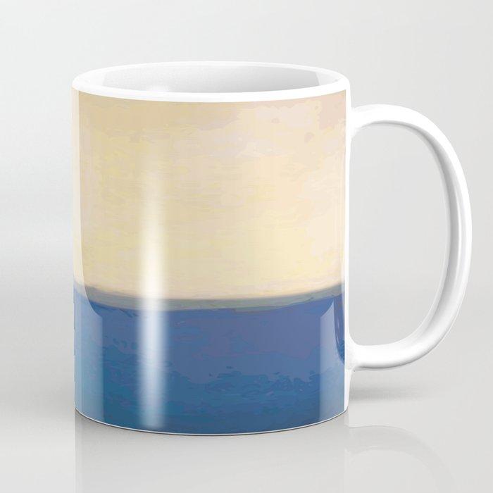 Plain Color Blue And White Art Print Coffee Mug