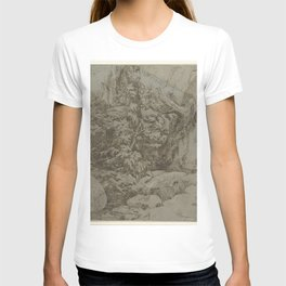 Parmigianino - Studie van een landschap T-shirt