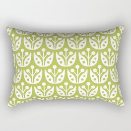 Mid Century Flower Pattern 5 Rectangular Pillow