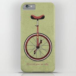 Unicycle iPhone Case