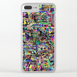 Technicolor skull Clear iPhone Case