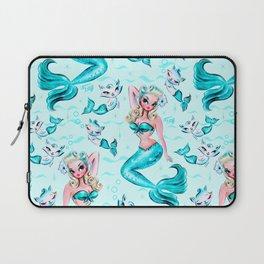 Pinup Mermaid with Merkittens Laptop Sleeve
