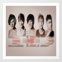 one direction Art Prints featuring One Direction by store2u