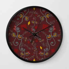 Red Yellow Connection Wall Clock