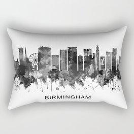 Birmingham England Skyline BW Rectangular Pillow