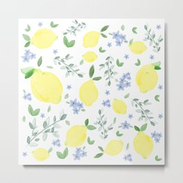 Fresh Lemon Serenade Metal Print