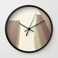 buildings Wall Clocks featuring buildings by dv7600