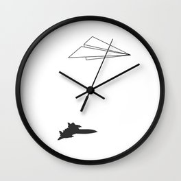 Paper Airplane Dreams Wall Clock