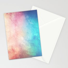 Fire and Ice - Watercolor Painting Stationery Cards
