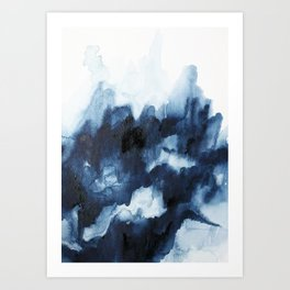 Indigo watercolor 2 Art Print