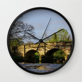 River Manifold Bridge Ilam Village Wall Clock