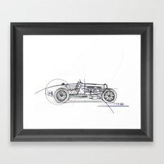 RennSport Speed Series: Type 51 Framed Art Print