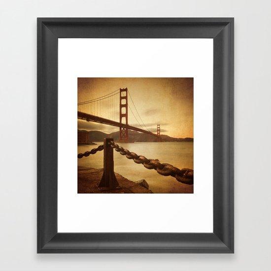 Vintage Golden Gate Framed Art Print