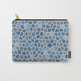 Blue Mosaic Pattern - Light Carry-All Pouch