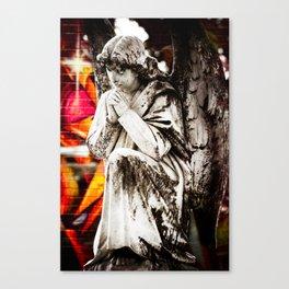 Angel Graffiti Canvas Print