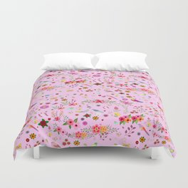 Say I love you with flowers Duvet Cover