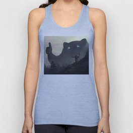 yo bro is it safe down there in the woods? yeah man it's cool Unisex Tank Top