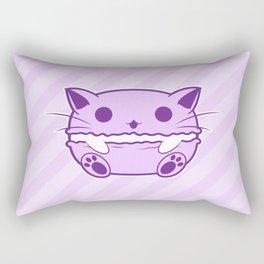 Purple Kawaii Cat Macaroon Rectangular Pillow