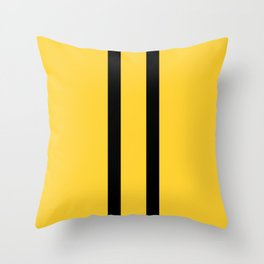 Bruce Bee Bumble Lee Stripes Throw Pillow