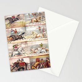 1875 Montage of Traveling America Circus Acts Posters Stationery Cards
