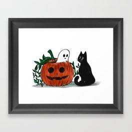 Halloween Friends Framed Art Print