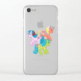 g1 my little pony unicorns Clear iPhone Case
