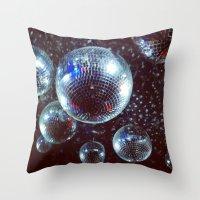 disco Throw Pillows featuring Disco by Elle