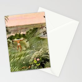 """Classical Masterpiece """"Egyptian Fowlers Clap-net"""" by Herbert Herget. Stationery Cards"""
