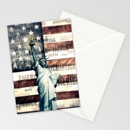Vintage Patriotic American Liberty Stationery Cards