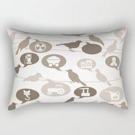 Birds about the industry Rectangular Pillow