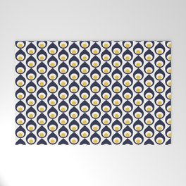 Retro Avocado Blue Welcome Mat