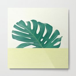Monstera Dip II Metal Print
