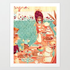 Alice's Tea Party Art Print