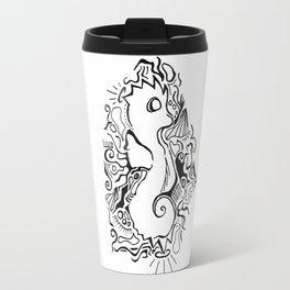 Seahorse Lineart Travel Mug