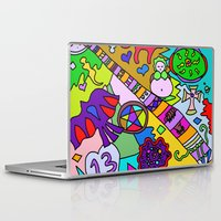 bible verses Laptop & iPad Skins featuring Science Verses Religion by Linda Tomei