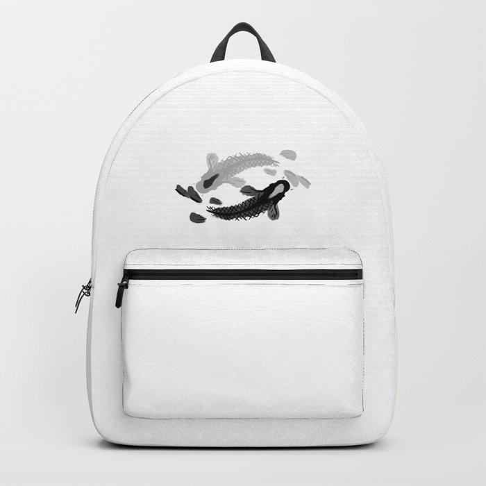 Yin-Yang oriental Koi fish Backpack
