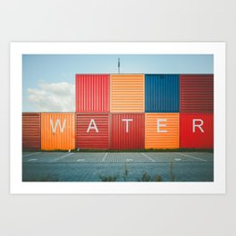 Amsterdam Noord Containers Art Print