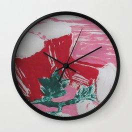 Dionysus Playing Pong Pink Wall Clock