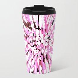 Dahlia Explosion Abstract Pink Travel Mug