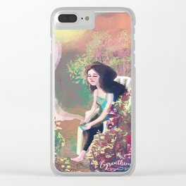 Summer tea Clear iPhone Case