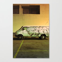 Graffiti of the White Van - Los Angeles #82 Canvas Print
