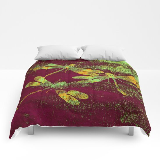 Mauritius Vintage Dragonflies QRF Comforters