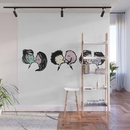 KISS aka duck face Wall Mural